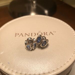 Pandora blue stone charms/spacers - set of 2